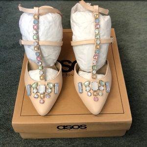 ASOS jeweled heels